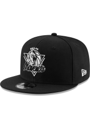New Era Dallas Mavericks Black NBA21 TIP OFF 9FIFTY Mens Snapback Hat