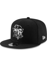 New Era Philadelphia 76ers Black NBA21 TIP OFF 9FIFTY Mens Snapback Hat