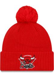New Era Chicago Bulls Red NBA21 TIP OFF KNIT Mens Knit Hat