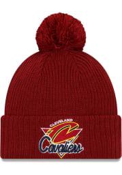 New Era Cleveland Cavaliers Maroon NBA21 TIP OFF KNIT Mens Knit Hat