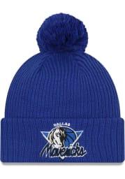 New Era Dallas Mavericks Blue NBA21 TIP OFF KNIT Mens Knit Hat
