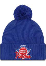 New Era Detroit Pistons Blue NBA21 TIP OFF KNIT Mens Knit Hat