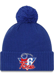 New Era Philadelphia 76ers Blue NBA21 TIP OFF KNIT Mens Knit Hat