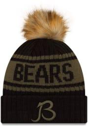 New Era Chicago Bears Black 2021 Salute to Service W Cuff Womens Knit Hat
