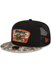 New Era Cleveland Browns Black 2021 Salute to Service 9FIFTY Mens Snapback Hat