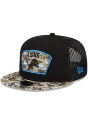 New Era Detroit Lions Black 2021 Salute to Service 9FIFTY Mens Snapback Hat
