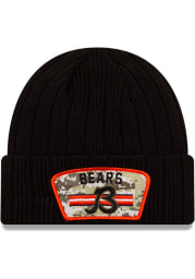 New Era Chicago Bears Black 2021 Salute to Service Sport Mens Knit Hat