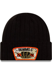 New Era Cincinnati Bengals Black 2021 Salute to Service Sport Mens Knit Hat