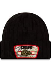 New Era Kansas City Chiefs Black 2021 Salute to Service Sport Mens Knit Hat