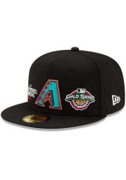 New Era Arizona Diamondbacks Mens Black Champion 59FIFTY Fitted Hat