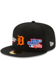 New Era Detroit Tigers Mens Black Champion 59FIFTY Fitted Hat