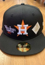 New Era Houston Astros Mens Black Champion 59FIFTY Fitted Hat