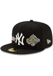New Era New York Yankees Mens Black Champion 59FIFTY Fitted Hat