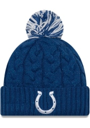 New Era Indianapolis Colts Blue Cozy Cable Cuff Womens Knit Hat