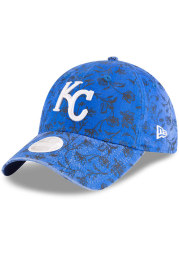 New Era Kansas City Royals Blue KC Royals Floral Peek 9TWENTY Womens Adjustable Hat