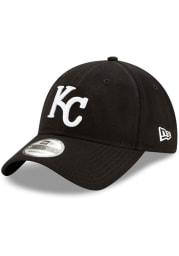 New Era Kansas City Royals KC Royals Black MLB20 Clutch 9TWENTY Adjustable Hat - Black