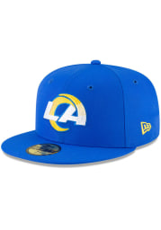 New Era Los Angeles Rams Mens Blue Basic 59FIFTY Fitted Hat