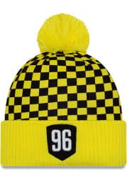 New Era Columbus Crew Yellow Jersey Hook Cuff Mens Knit Hat