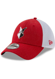 New Era Indianapolis Mens Red Heather Front 39THIRTY Flex Hat