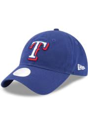 New Era Texas Rangers Blue Team Glisten Womens Adjustable Hat