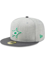 New Era Dallas Stars Mens Grey Heather Action 59FIFTY Fitted Hat