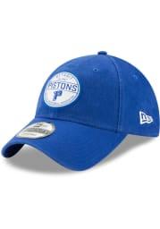 New Era Detroit Pistons Core Standard 9TWENTY Adjustable Hat - Blue