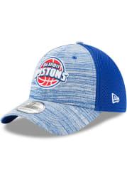 New Era Detroit Pistons Mens Blue Tonal Tint 39THIRTY Flex Hat