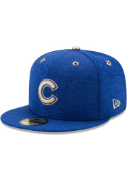 New Era Chicago Cubs Mens Blue 2017 All Star Game AC 59FIFTY Fitted Hat