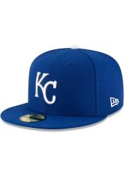 New Era Kansas City Royals Mens Blue AC Game 59FIFTY Fitted Hat
