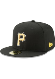 New Era Pittsburgh Pirates Mens Black AC Alt 59FIFTY Fitted Hat