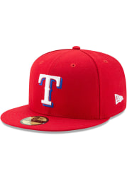 New Era Texas Rangers Mens Red AC Alt 59FIFTY Fitted Hat