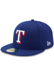 New Era Texas Rangers Mens Blue AC Game 59FIFTY Fitted Hat