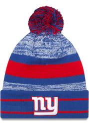 New Era New York Giants Blue Cuff Pom Mens Knit Hat