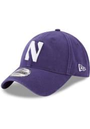 New Era Northwestern Wildcats Core Classic 9TWENTY Adjustable Hat - Purple
