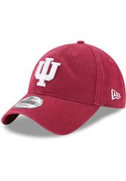 New Era Indiana Hoosiers Core Classic 9TWENTY Adjustable Hat - Crimson