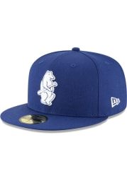 New Era Chicago Cubs Mens Blue 1914 Cooperstown Wool 59FIFTY Fitted Hat