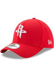 New Era Houston Rockets Mens Red Team Classic 39THIRTY Flex Hat