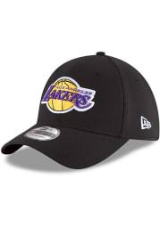 New Era Los Angeles Lakers Mens Black Team Classic 39THIRTY Flex Hat