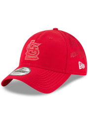 New Era St Louis Cardinals Red 2018 Clubhouse Jr 9TWENTY Youth Adjustable Hat
