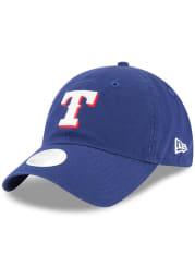 New Era Texas Rangers Blue Team Glisten LS 9TWENTY Womens Adjustable Hat