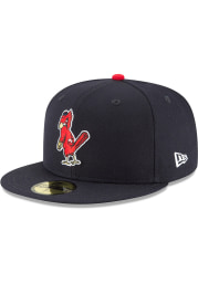 New Era St Louis Cardinals Mens Blue 1950 Cooperstown Wool 59FIFTY Fitted Hat