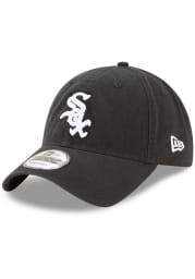 New Era Chicago White Sox Black Core Classic Replica Jr 9TWENTY Youth Adjustable Hat