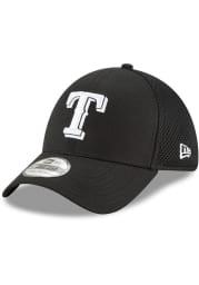 New Era Texas Rangers Mens Black Neo 39THIRTY Flex Hat
