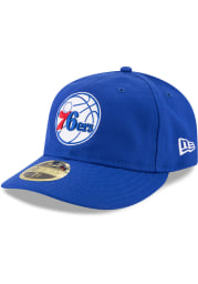 New Era Philadelphia 76ers Mens Blue Fan Retro Fit 59FIFTY Fitted Hat
