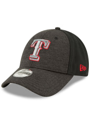 New Era Texas Rangers Black Shaded Front Jr 9FORTY Adjustable Toddler Hat