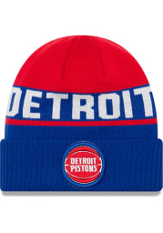 New Era Detroit Pistons Maroon Chilled Cuff Mens Knit Hat