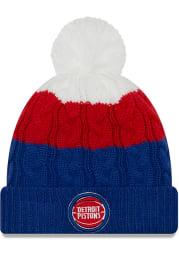 New Era Detroit Pistons Maroon Layered Up 2 Womens Knit Hat