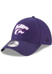 New Era K-State Wildcats Mens Purple Popped Shadow 39THIRTY Flex Hat