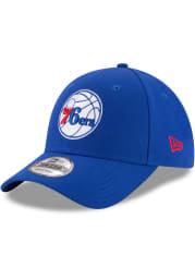 New Era Philadelphia 76ers Blue Jr The League 9FORTY Youth Adjustable Hat