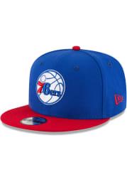 New Era Philadelphia 76ers Blue Jr 2T 9FIFTY Youth Snapback Hat